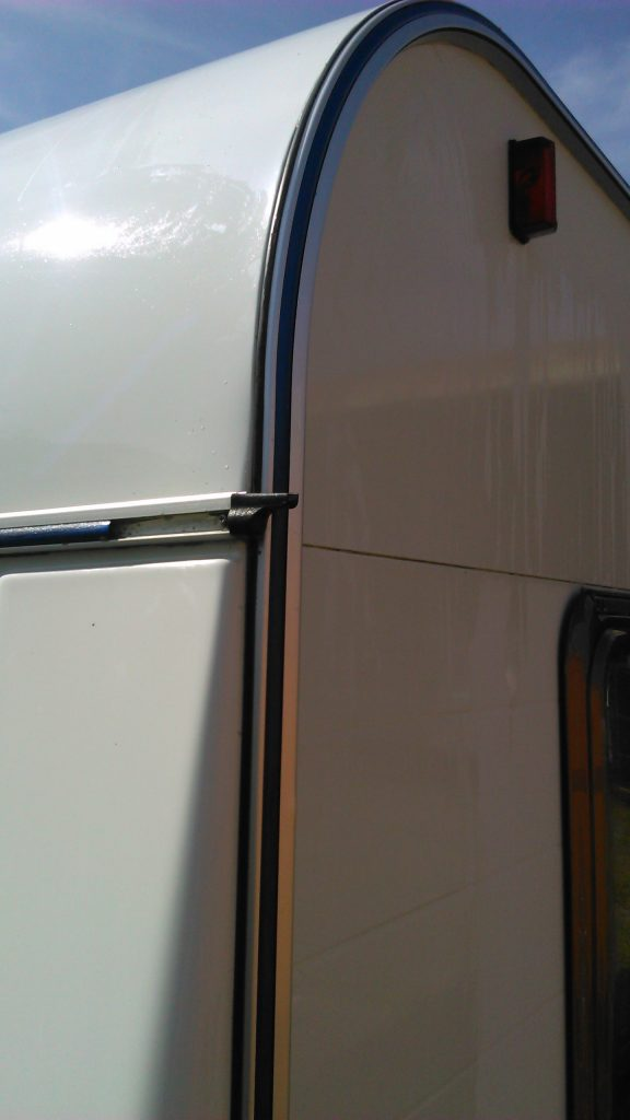 Caravan after over-seal by Somerdale Services.